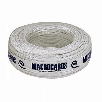 Macrocabos - Rolo de Cabo Coaxial Serie 06 75 OHMS 95% Malha 100 Mt, Branco (ftz)