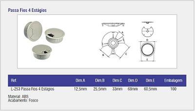 SAS PLASTIC - Passa Fio 4 Estágios - 68 x 24mm - Branco