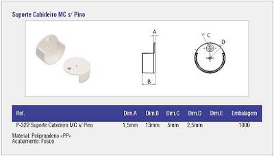 SAS PLASTIC - Suporte Cabideiro MC s/ Pino