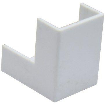 TRAMONTINA - Conexão p/ Canaleta - 20 x 10 - Cotovelo Externo Branco 57300/043 (ftz)