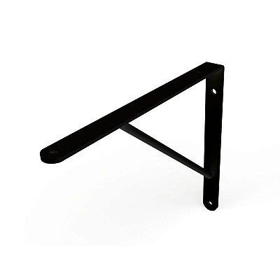 DiCarlo - Suporte Mão Francesa Preto - 25cm - s/ Kit de Montagem