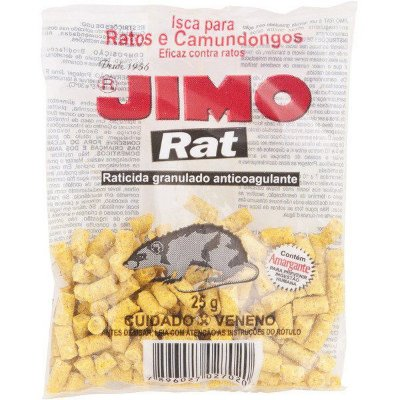 Jimo Raticida 25g - Caixa c/ 4 Unidades
