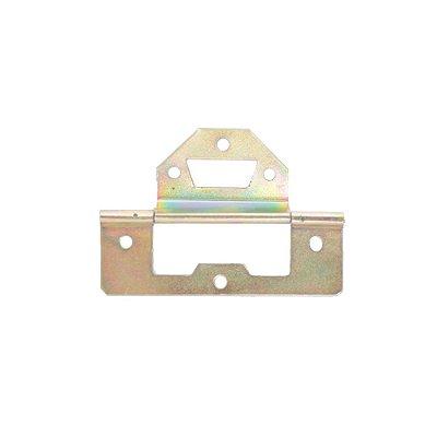 Alutec - Dobradiça p/ Móveis 1212 - c/ Aba 15mm - Bicromatizado
