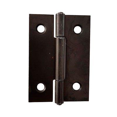 Gubler - Móveis 555 - 38 x 26mm Dobradiça de Ferro Preto