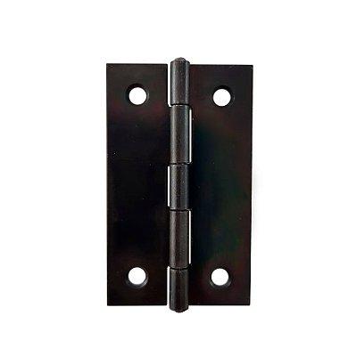 Gubler - Móveis 555 - 49 x 30mm Dobradiça de Ferro Preto