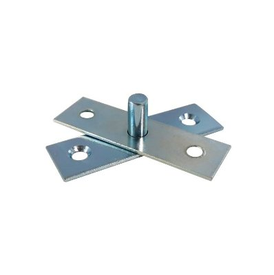 Gubler - Dobradiça Basculante c/ Pino Fixo (Gonzos) de Ferro Zincado