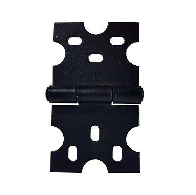 BIGFER - Dobradiça p/ Móveis - 40 x 69,5 - Epoxi Preto Fosco