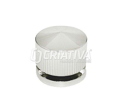 Criativa - Botão Francês Plástico p/ Vidro - Cromado