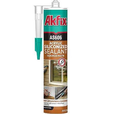 Akfix - AS606 Selador Monocomponente de Base Acrilica Siliconado, pode-se Pintar - (310ml-550g) - Marfim Claro