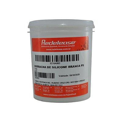 Redelease - Borracha de Silicone Branca p/ Moldes -  Alta Flexibilidade - 01KG - SEM CATALISADOR