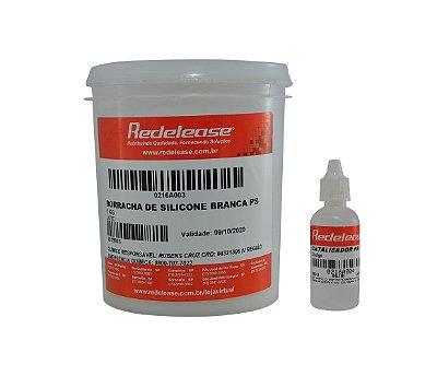 Redelease - Kit Borracha de Silicone Branca p/ Moldes 01kg + CAT