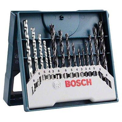Bosch - Mini XLine com 15 Brocas para Perfurar