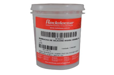 Redelease - Borracha de Silicone Vermelha p/ Moldes - Rígida para Fundição - 01KG - SEM CATALISADOR
