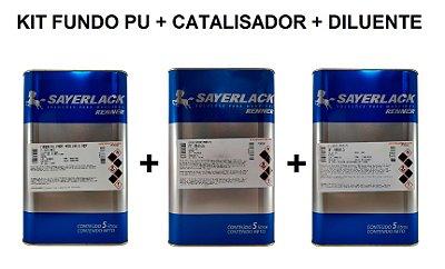 Sayerlack - Kit Fundo PU 6314 + Catalisador + Diluente - 5L