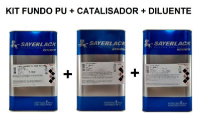 Sayerlack - Kit Fundo PU 6484 + Catalisador + Diluente - 5L