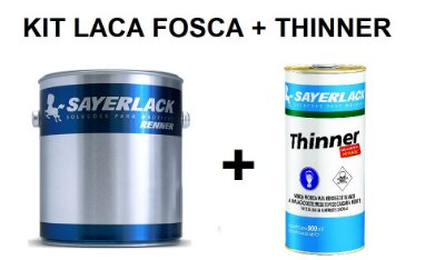 Sayerlack - KIT Laca Nitro Branca Fosca (3,6L) + Thinner
