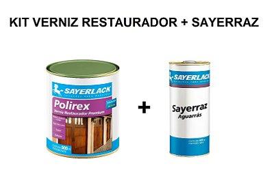 Sayerlack - Kit Verniz Restaurador Imbuia 900ML + Aguarras Sayerraz