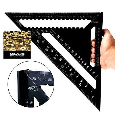 GOLDLINE - Esquadro Triângulo - 26 x 18 x 18cm