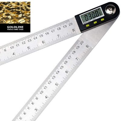 GOLDLINE - Goniometro - Transferidor Digital e Régua - 30cm