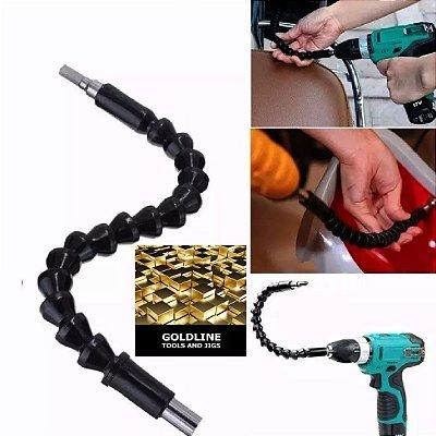 GOLDLINE - Kit com 2 Eixos Flexíveis (Chicotes) para Parafusadeira