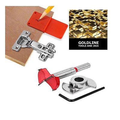 GOLDLINE - Kit para Dobradiças 35mm