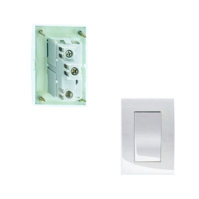 MarGirius - Conjunto Interruptor Simples Sleek - 10A 250V - Branco (PA015795)