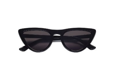 Óculos de Sol Retrô Cat Preto