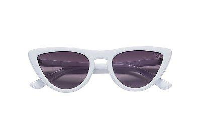 Óculos Retrô Cat Branco