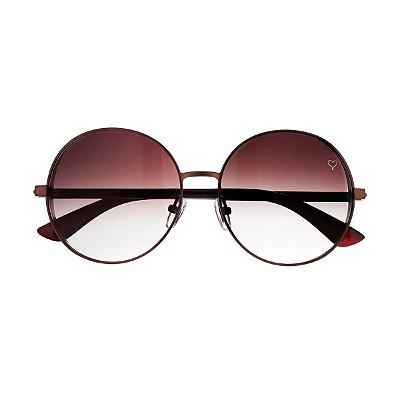 Óculos de Sol Round Marrom