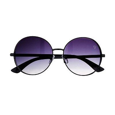 Óculos de Sol Round Preto