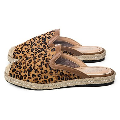 Mule Kessy Luna Couro Leopard
