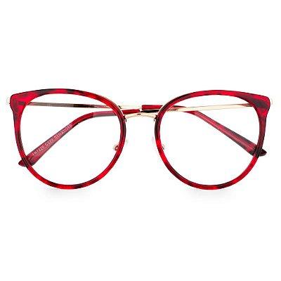 Óculos de Grau Kessy 115 Tartaruga Vermelho