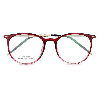 Óculos de Grau Kessy 135 Vinho Glitter
