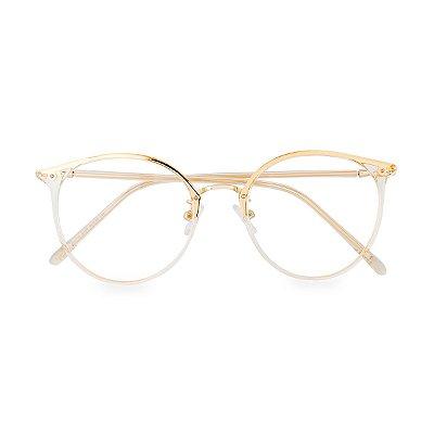 Óculos de Grau Kessy 165 Transparente Dourado