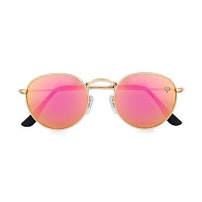 Óculos de Sol Kessy Round Rosa