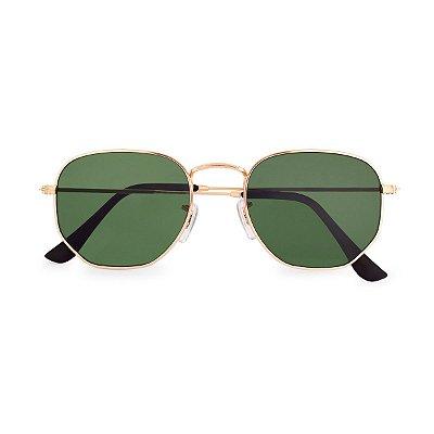 Óculos de Sol Kessy Hexagonal Lyna Verde