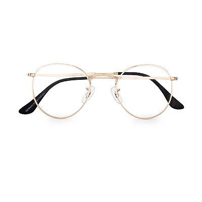 Óculos de Grau Kessy Clip On Round Dourado