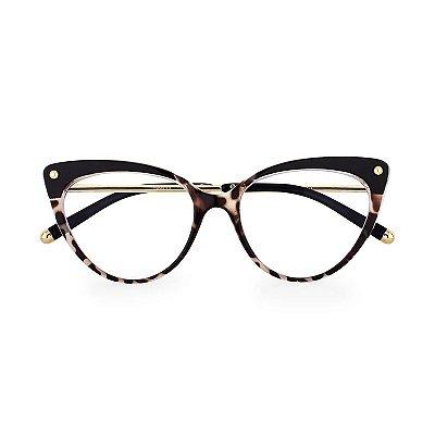 Óculos de Grau Kessy 190 Preto Tartaruga