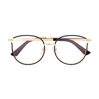 Óculos de Grau Kessy 620 Preto Dourado