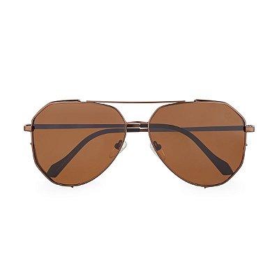 Óculos de Sol Kessy Aviador Salvador Marrom