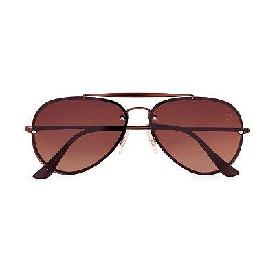 Óculos de Sol Kessy Aviador Bahia Marrom
