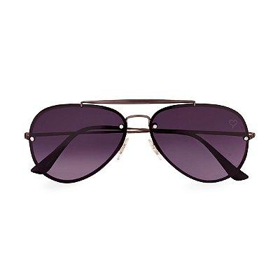 Óculos de Sol Kessy Aviador Bahia Preto