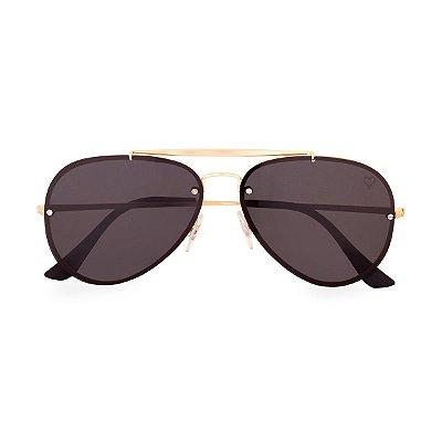 Óculos de Sol Kessy Aviador Bahia Preto Dourado