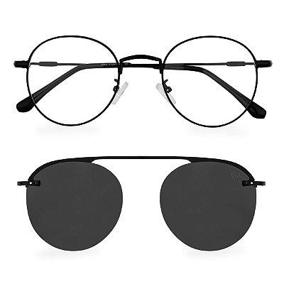 Óculos de Grau Kessy Clip On Round 250 Preto