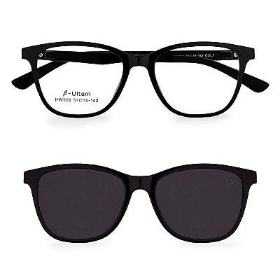 Óculos de Grau Kessy Clip On 265 Preto