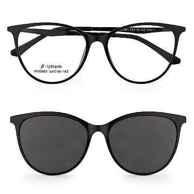 Óculos de Grau Kessy Clip On 260 Preto
