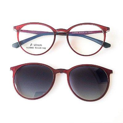 Óculos de Grau Kessy Clip On 295 Vinho