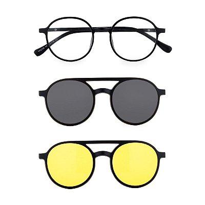 Óculos de Grau Kessy Clip On 335 Preto