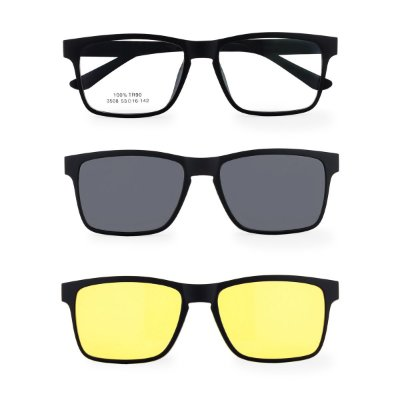 Óculos de Grau Kessy Clip On 365 Preto Fosco