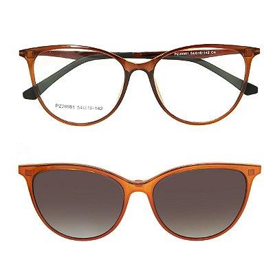Óculos de Grau Kessy Clip On 260 Marrom